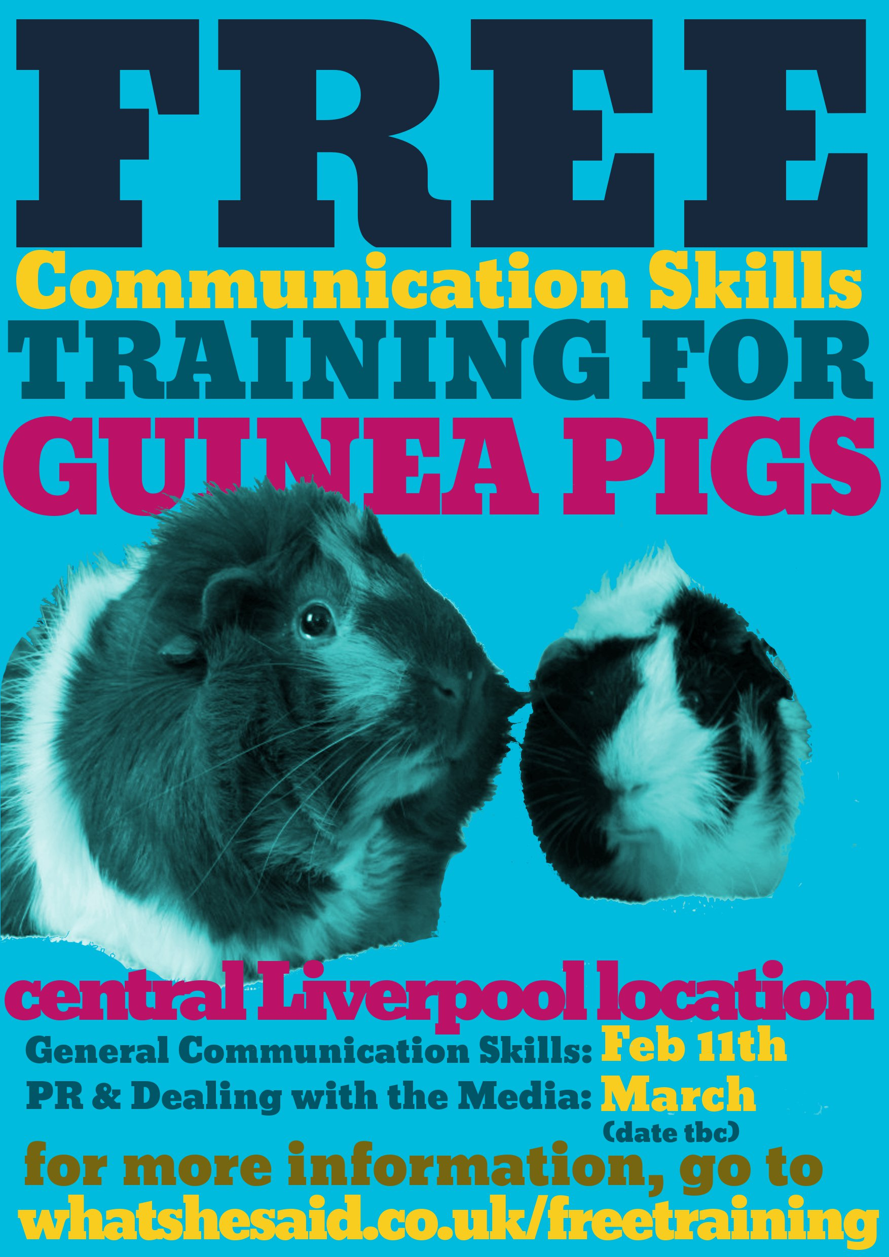 Free Training for guinea pigs