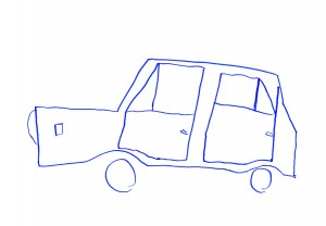 Illustration of a simple car